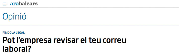 José Manuel Raya analiza en Ara Balears el control de nuestras comunicaciones por parte de las empresas
