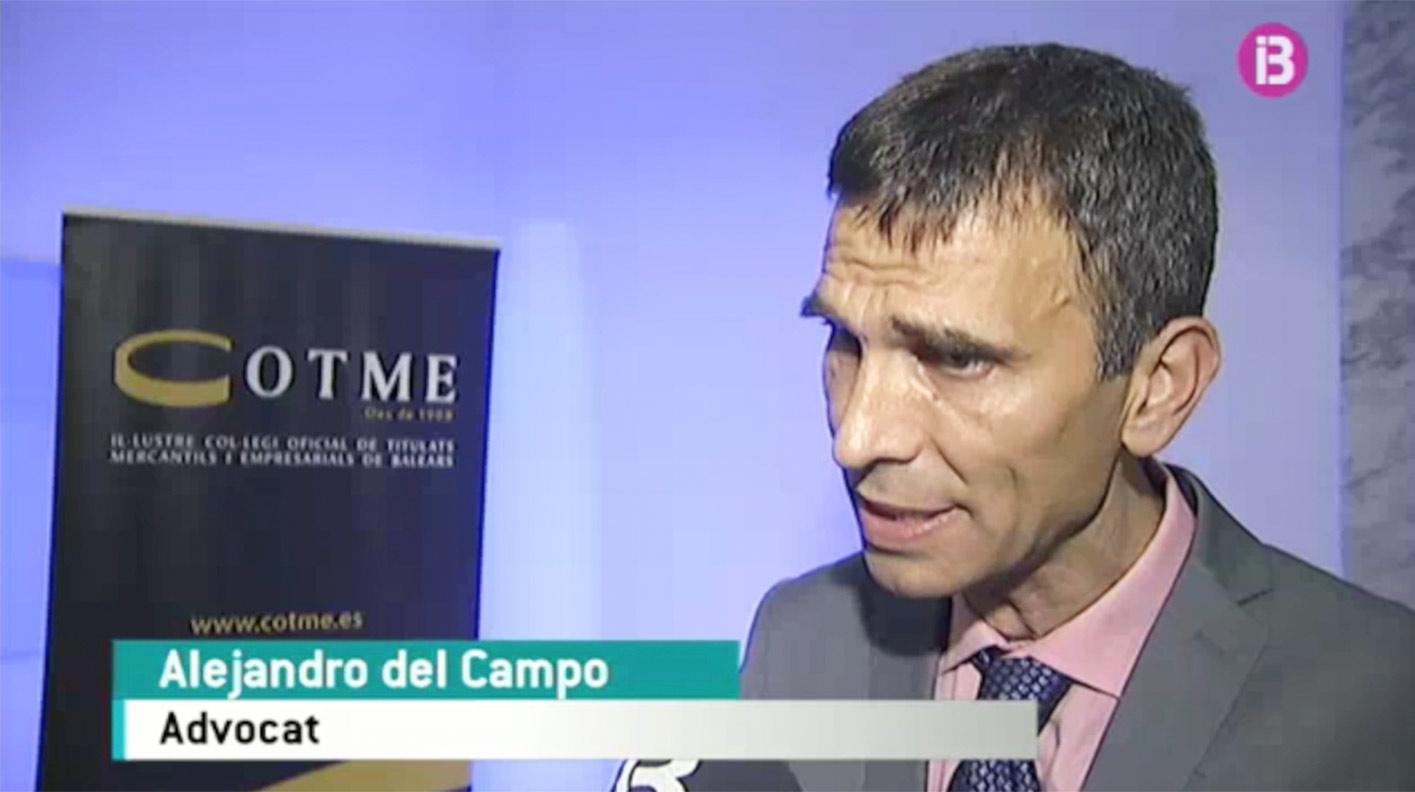 Aparición de Alejandro Del Campo Zafra en IB3 en relación a su conferencia en las XXII Jornadas Tributarias Cotme