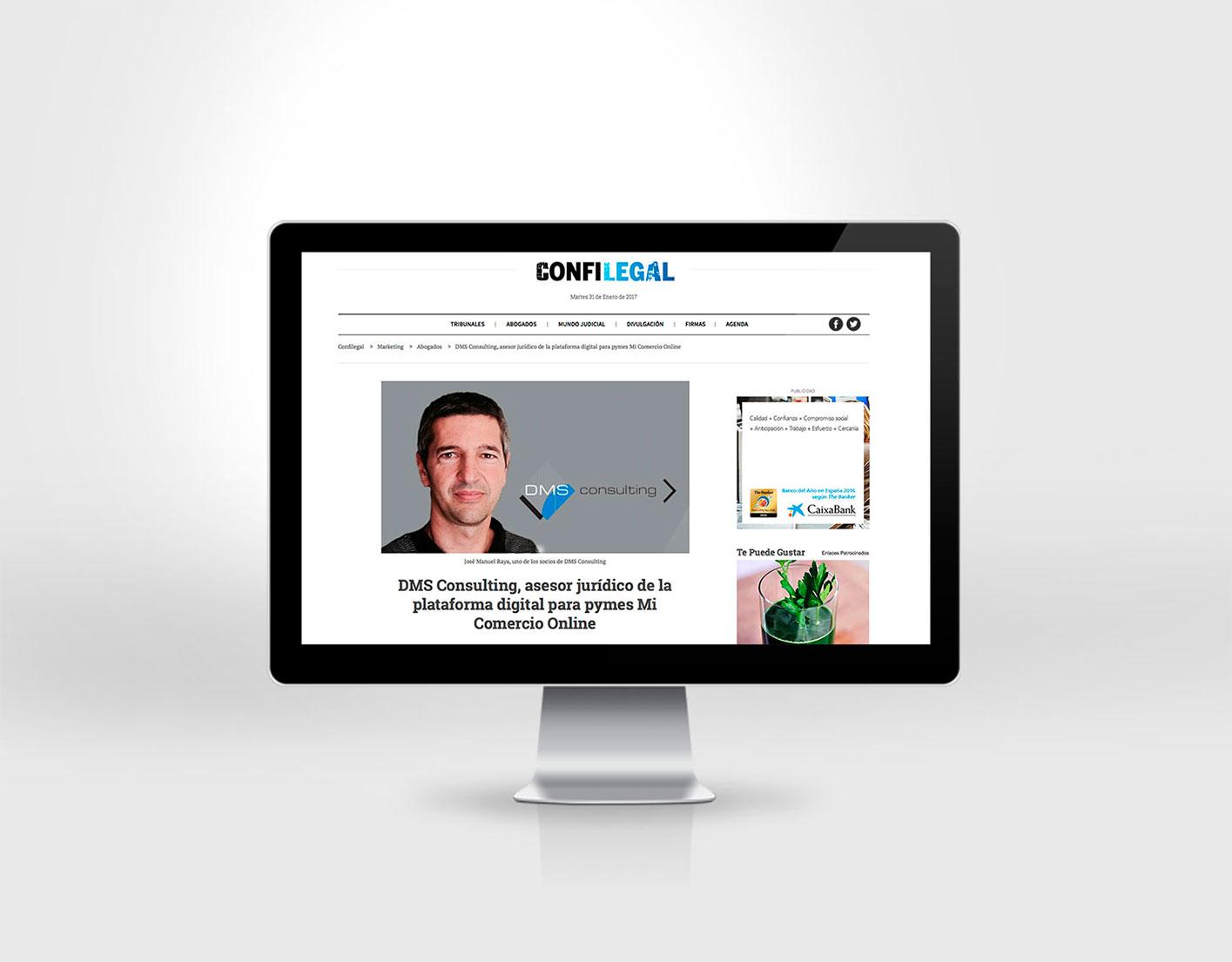 José Manuel Raya analitza a Confilegal la nostra participació en el projecte Mi Comercio Online