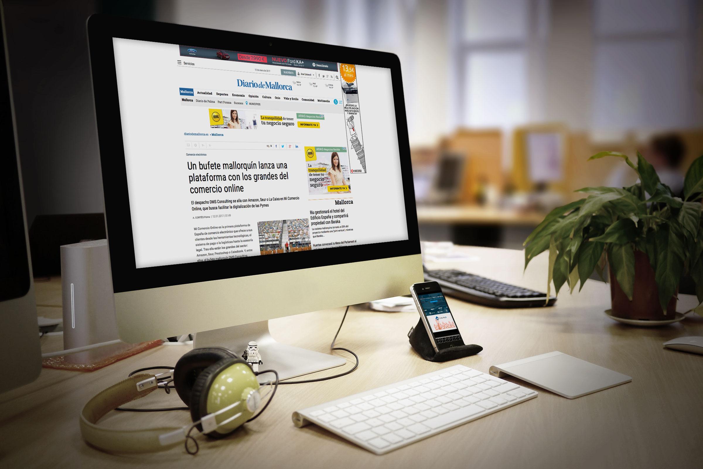 """Die Zeitung """"Diario de Mallorca""""schreibt über unsere Teilnahme an dem Projekt """"Mi Comercio Online"""""""