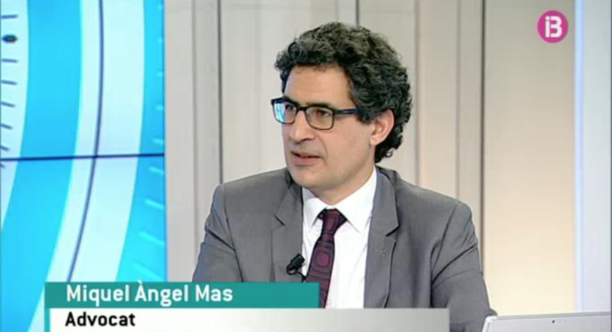 Miquel Àngel Mas participa en el especial Caso Nóos de IB3 Televisió
