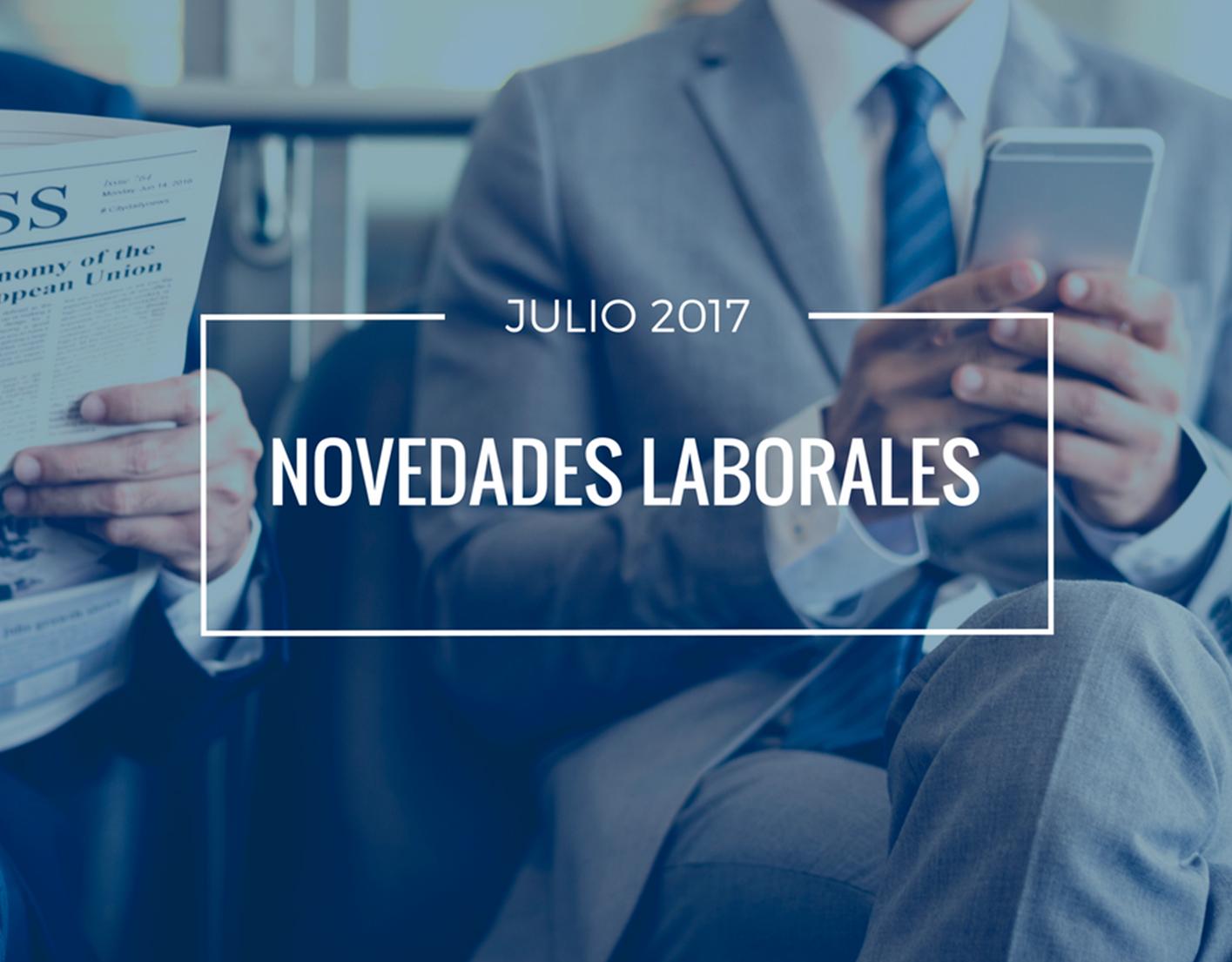 Novedades laborales julio