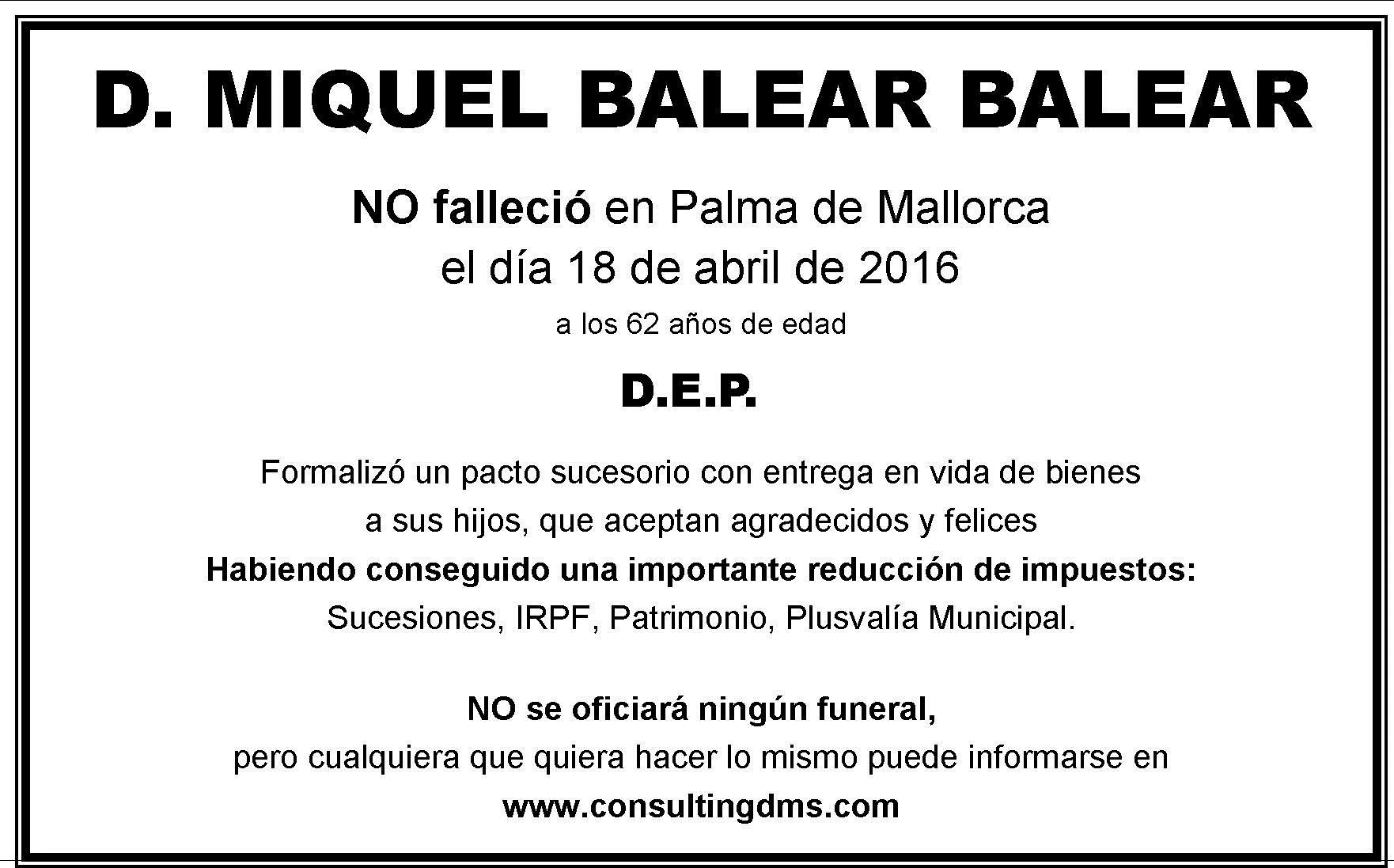 """VENTAJAS FISCALES DE LOS PACTOS SUCESORIOS (""""EUTANASIA FISCAL"""") – Criterios en BALEARES"""