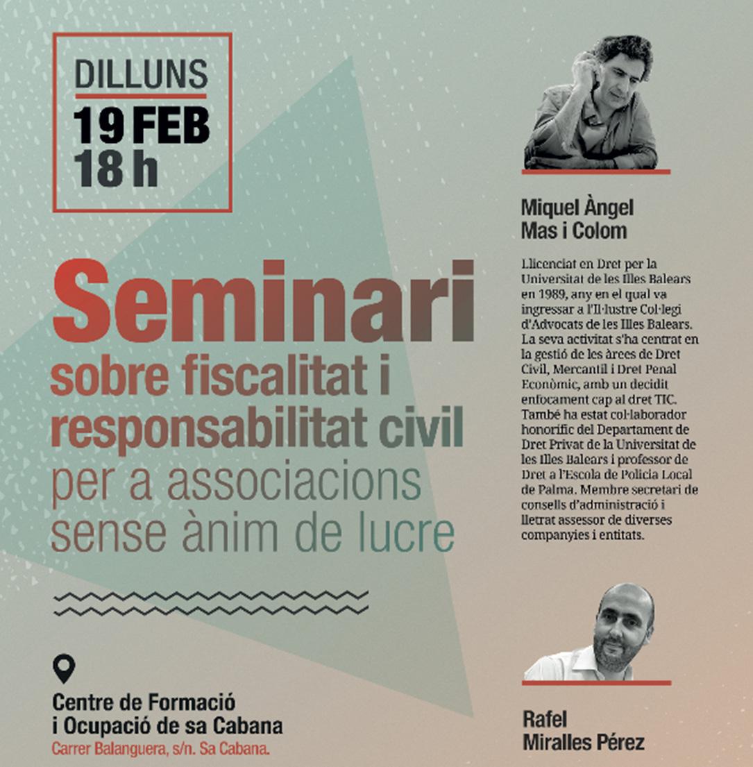 DMS Consulting impartirá un seminario sobre la Fiscalidad y Responsabilidad Civil destinado a las asociaciones sin ánimo de lucro.
