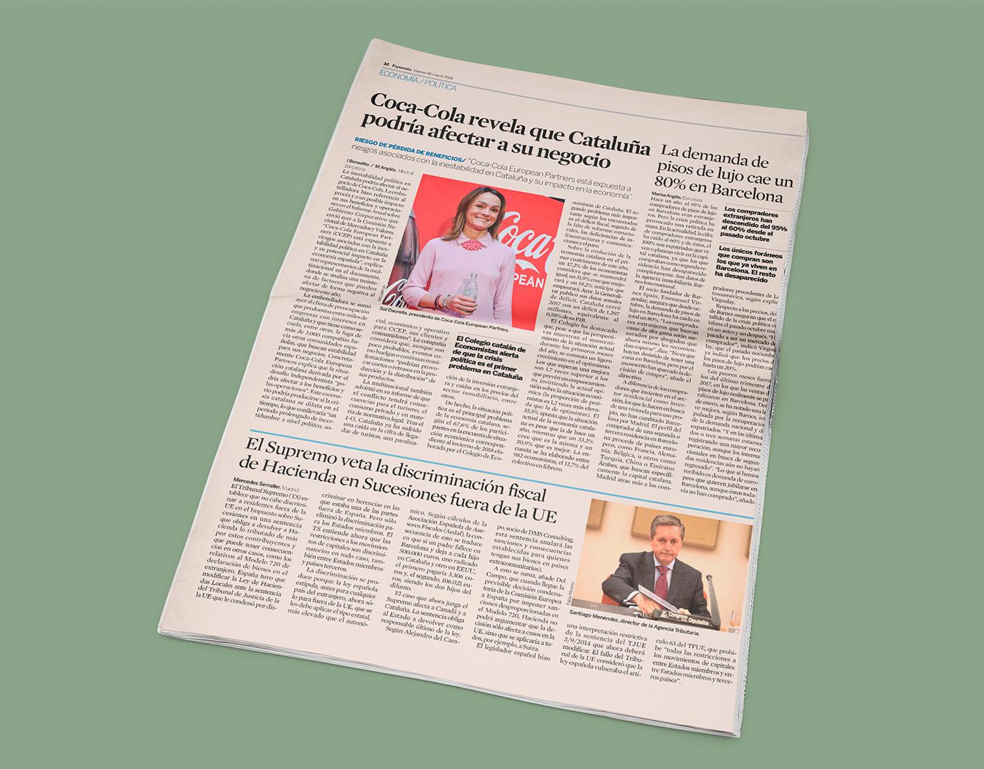 Expansión pregunta a Alejandro del Campo sobre el fallo del TS que veta la discriminación fiscal en Sucesiones fuera de la UE