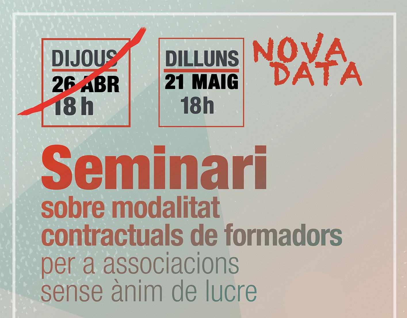 Seminari de Mari Carmen Sánchez sobre contractació en ONG's