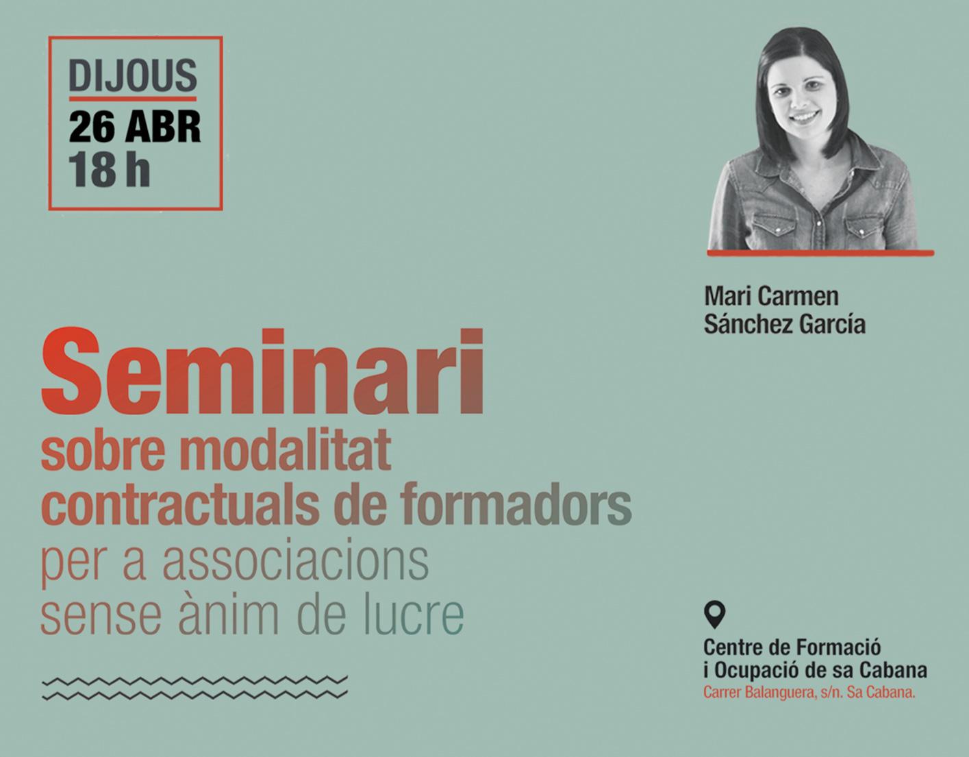 Seminario de Mari Carmen Sánchez sobre contratación en ONG's