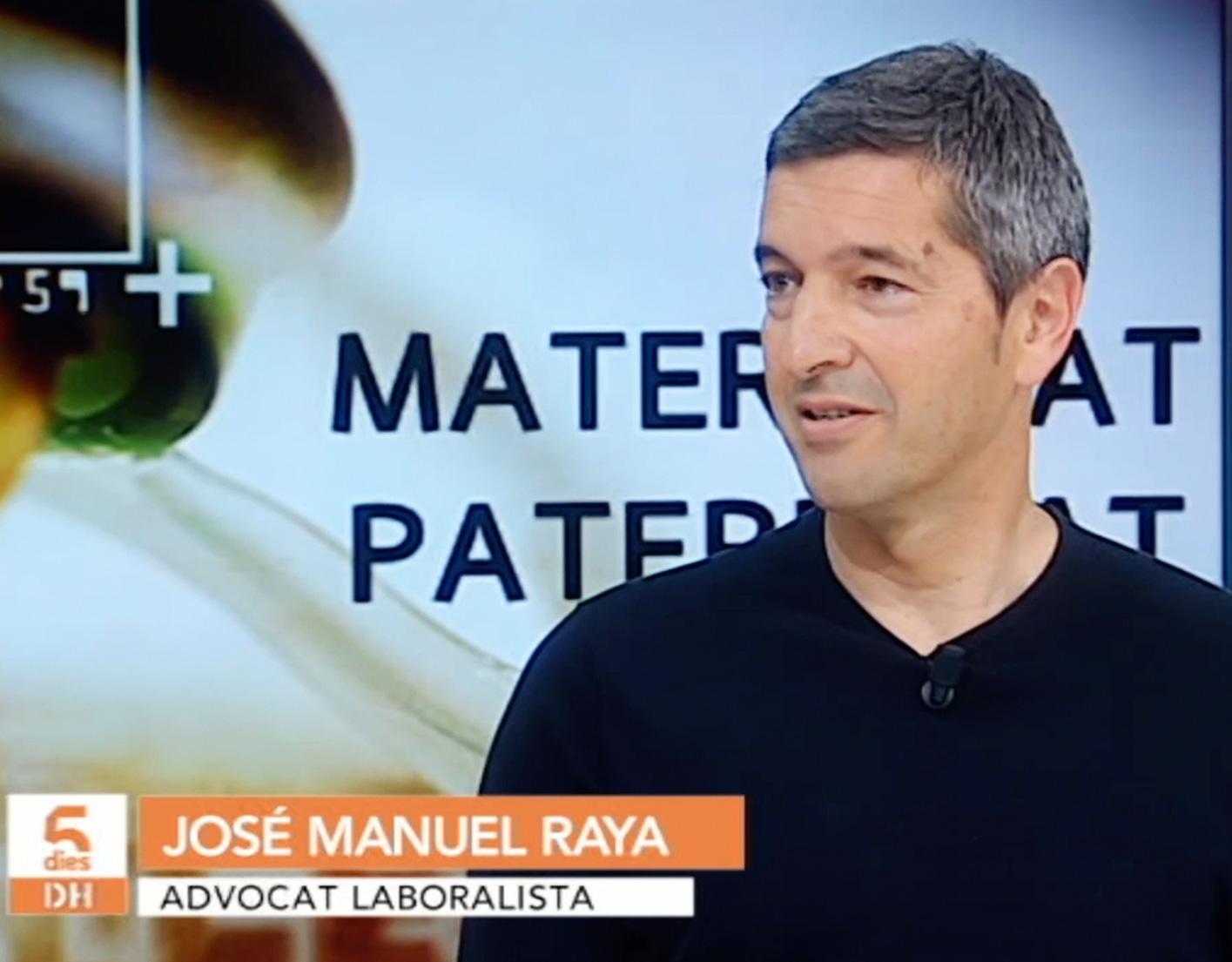 """José Manuel Raya trata el tema de la conciliación familiar y laboral en """"Cinc Dies"""" IB3 Televisió"""