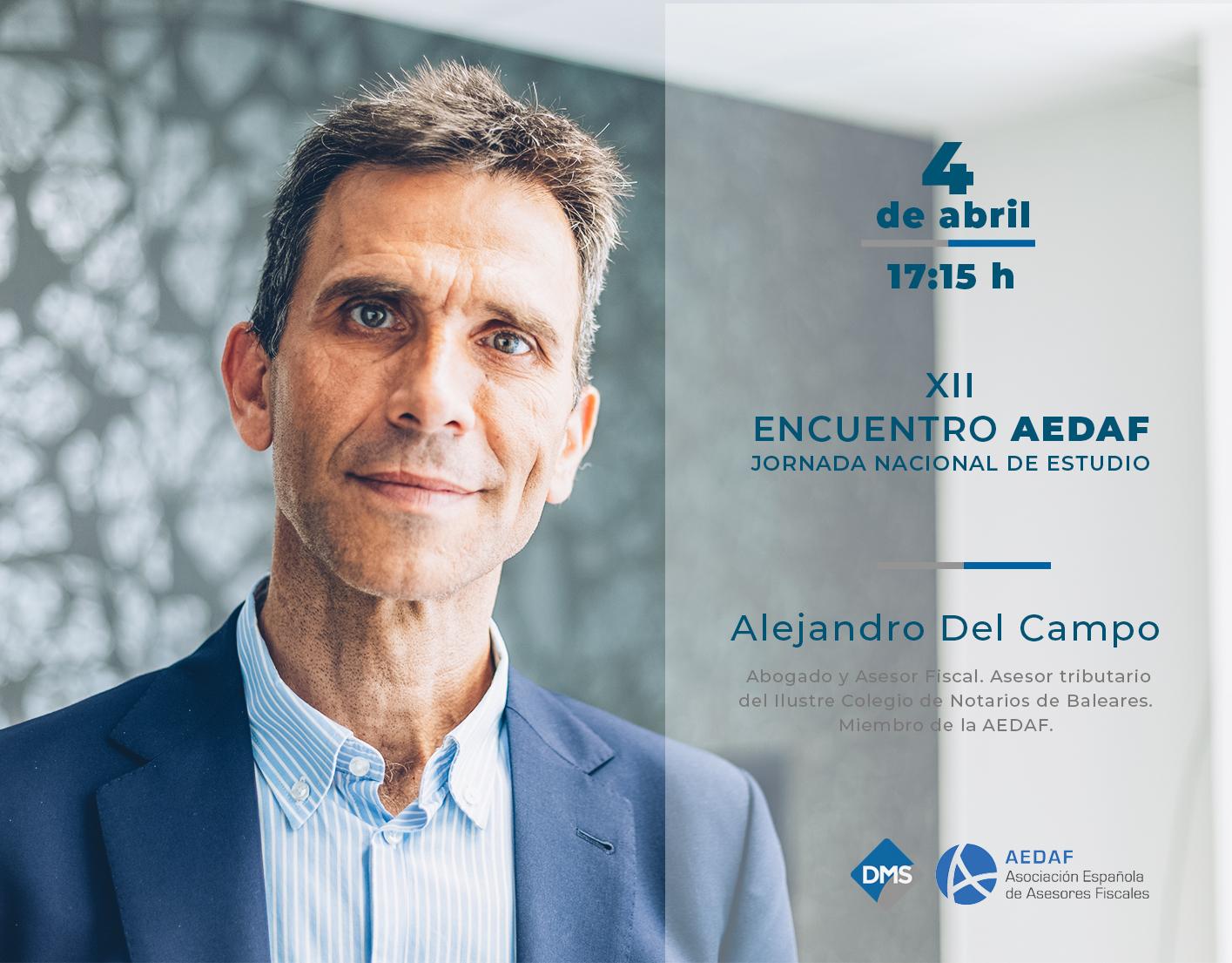 Alejandro Del Campo participa en el XII Encuentro AEDAF