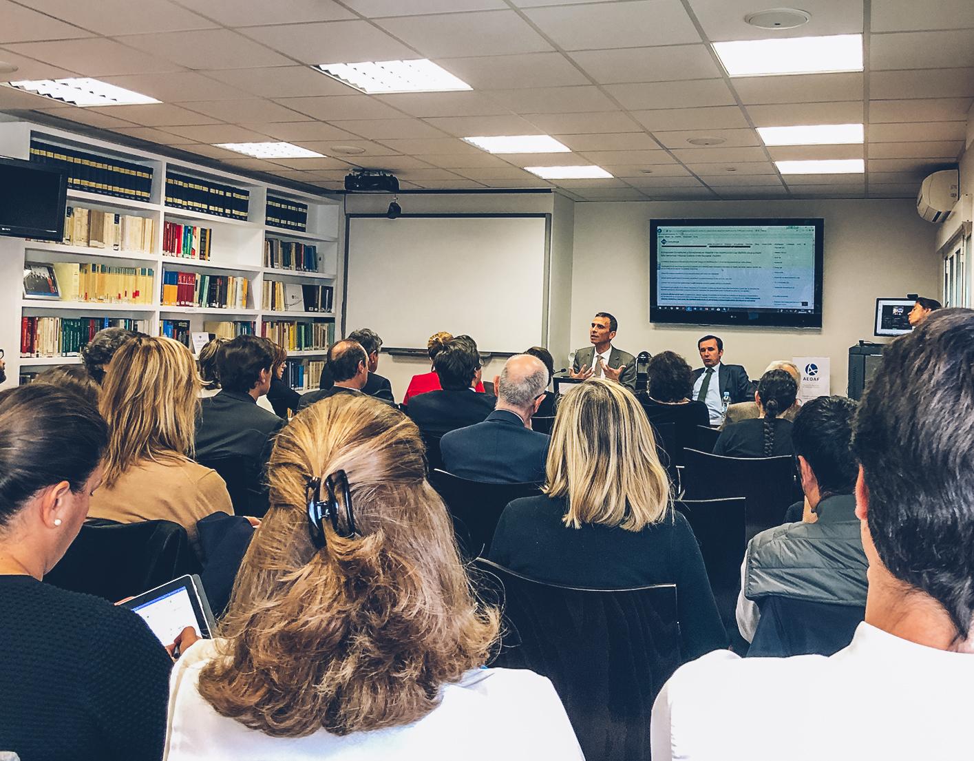 Alejandro Del Campo presenta la Jornada AEDAF Madrid