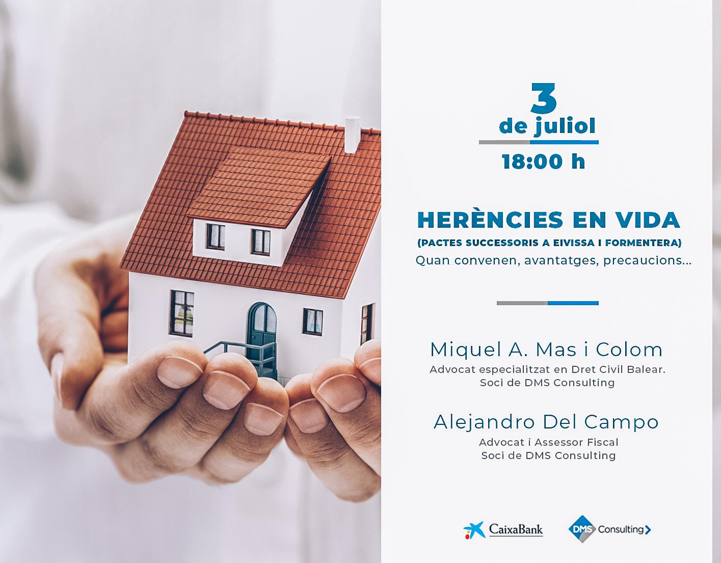 """DMS ofereix a Eivissa la conferencia """"Herències en vida"""""""