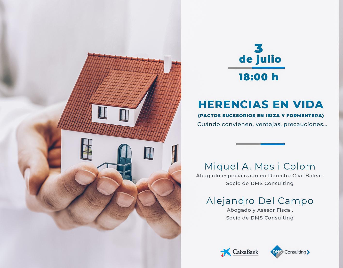 """DMS ofrece en Ibiza la conferencia """"Herencias en vida"""""""