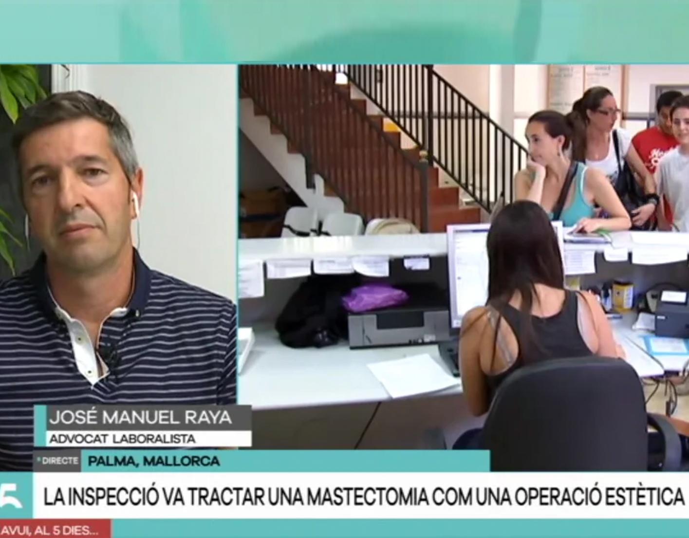 José Manuel Raya analiza en IB3 la noticia sobre la inspección del IB Salut que trató una mastectomía como una operación estética