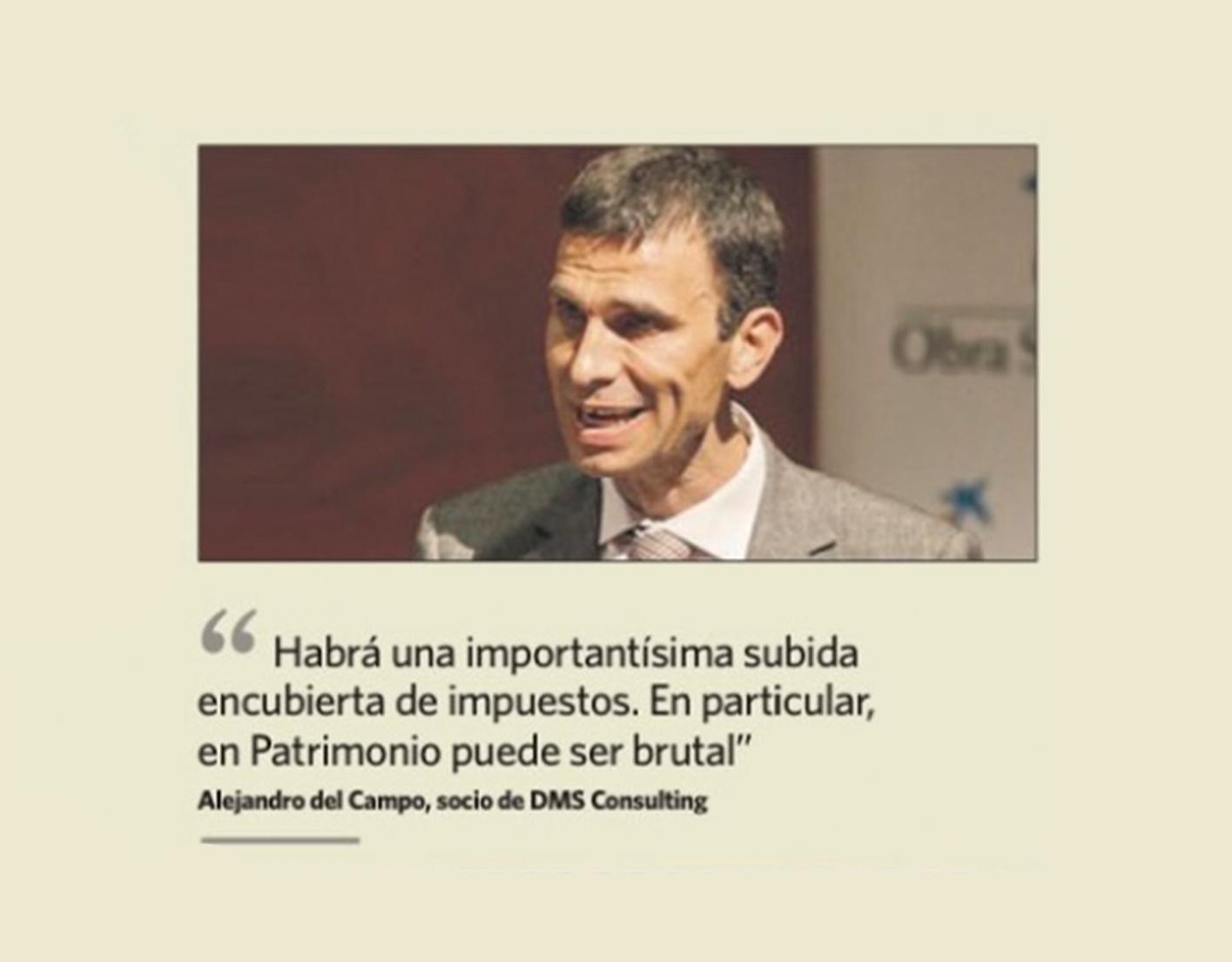 Alejandro Del Campo citado por El Economista sobre la importante subida de impuestos que encubre la Ley Antifraude