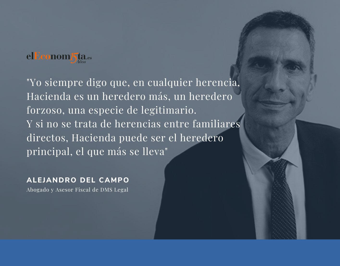 Alejandro del Campo opina en El Economista. España mantiene el mayor Impuesto sobre Sucesiones con tasas que alcanzan hasta el 81,6%