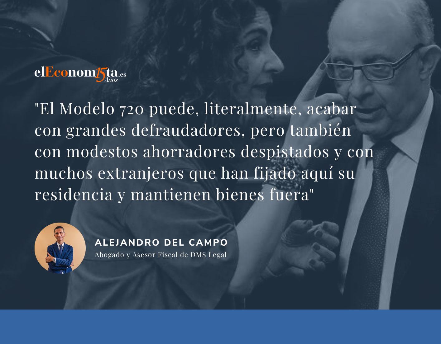 Alejandro del Campo en El Economista: La Justicia europea se pronunciará este mes sobre el Modelo 720